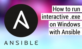 How to run interactive .exe on Windows with Ansible